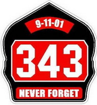 The number '343' signifies the number of Fire Fighters murdered at the WTC on 9-11-01